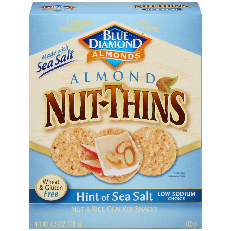 Blue Diamond Almond Nut-Thins, Hint of Sea Salt, 4.25 Oz