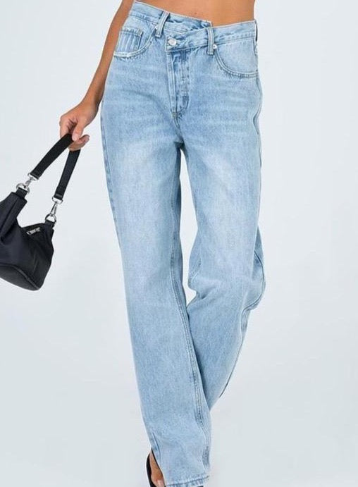 Asymmetrical Denim Jeans