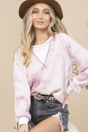 Oversized Tie-Dyed Crew Neck