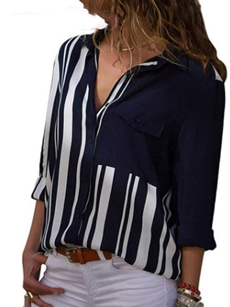 Patchwork Ancien Revers Blouses &t-Shirts