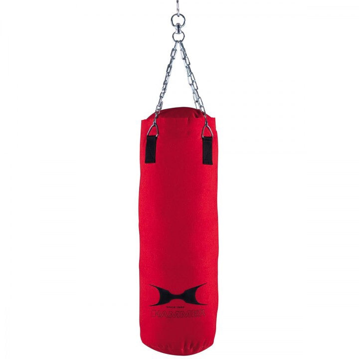 HAMMER BOXING Red Canvas Punching Bag
