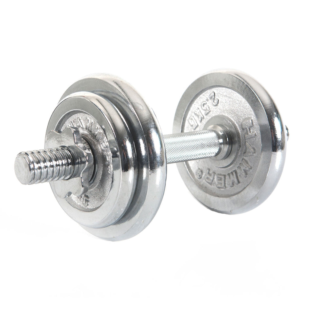 FINNLO by HAMMER 10 kg Dumbbell Set, Chrome (Ø 30 mm)