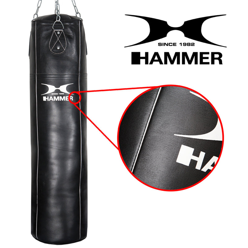 HAMMER BOXING Punching Bag Premium Leather Professional