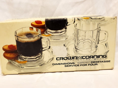 Crown Corning Tempered Demitasse Service for Four - MiscellaneousByDawn