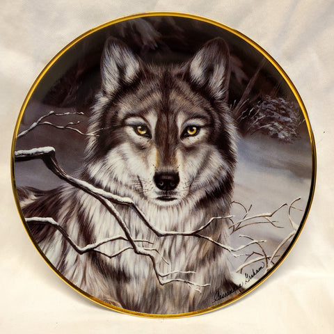 "Wolf Collector Plate ""Call of the Wild"" by Cassandra Graham - MiscellaneousByDawn"