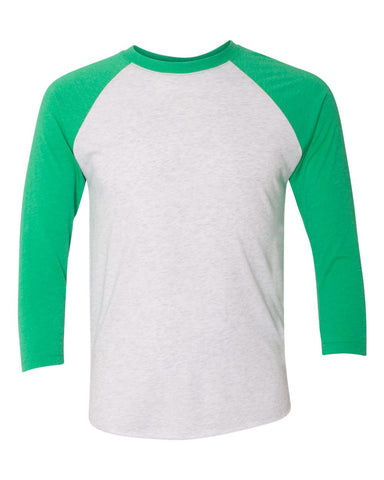 Unisex Tri-blend Three Quarter Sleeve Raglan