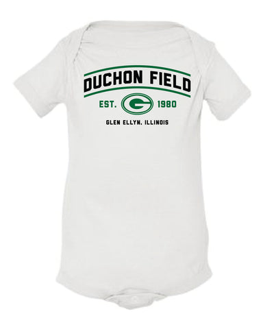 "Duchon Field with ""G"" Onesie"