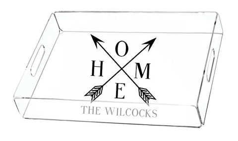 Home Arrows with Name Serving Tray