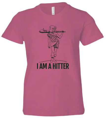 I'm a Hitter Youth Girls T-Shirt