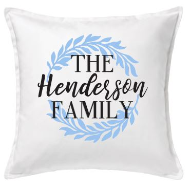 Family Wreath Pillow