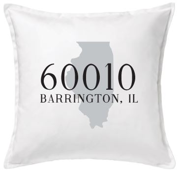 Zip Code and State Pillow