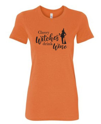 Classy Witches Halloween Ladies T-Shirt