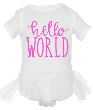Hello World Tutu Bodysuit