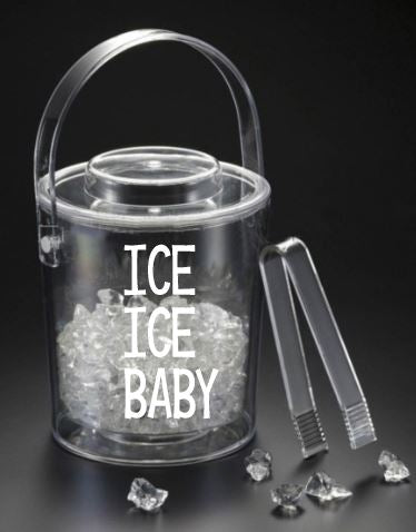 Ice Ice Baby 3 qt. Ice Bucket w/ Tongs