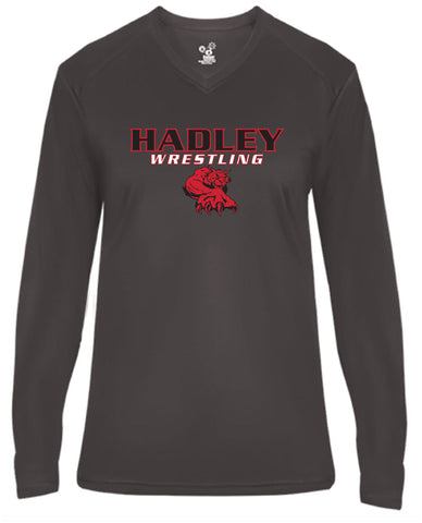 Ladies' Long Sleeve V-Neck