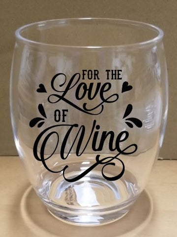 For the Love of Wine 14 oz. Stemless Wine Glass