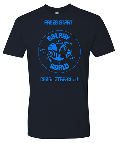 Carol Stream Press Start Galaxy World Crew T-Shirt