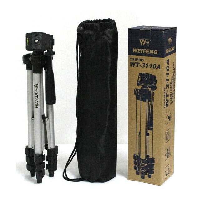 Portable Lightweight Camera Tripod & Ball Head + Carrying Bag For DSLR Camera