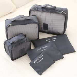 6PCS Travel Bag Luggage Organizer