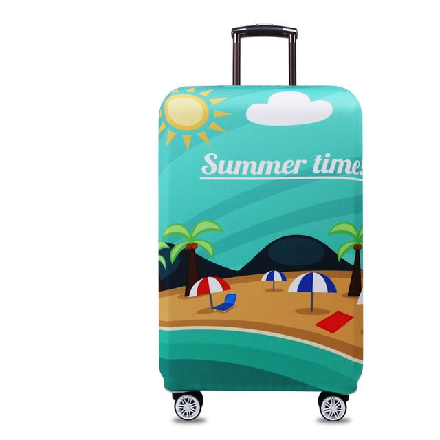 Suitcase Protective Cover Elastic Summer Time