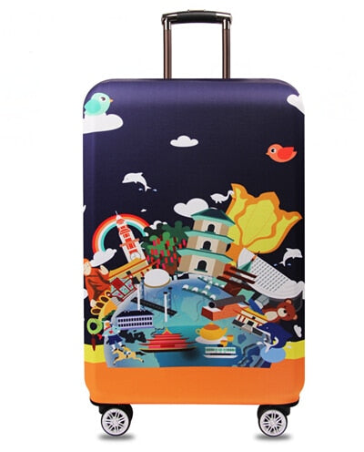 Suitcase Protective Cover Elastic World