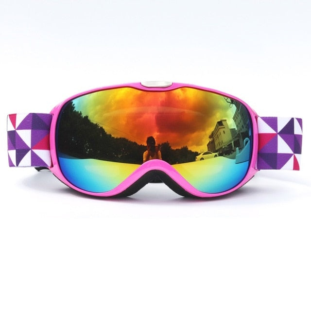 Child Double Lens Ski Goggles Anti-fog
