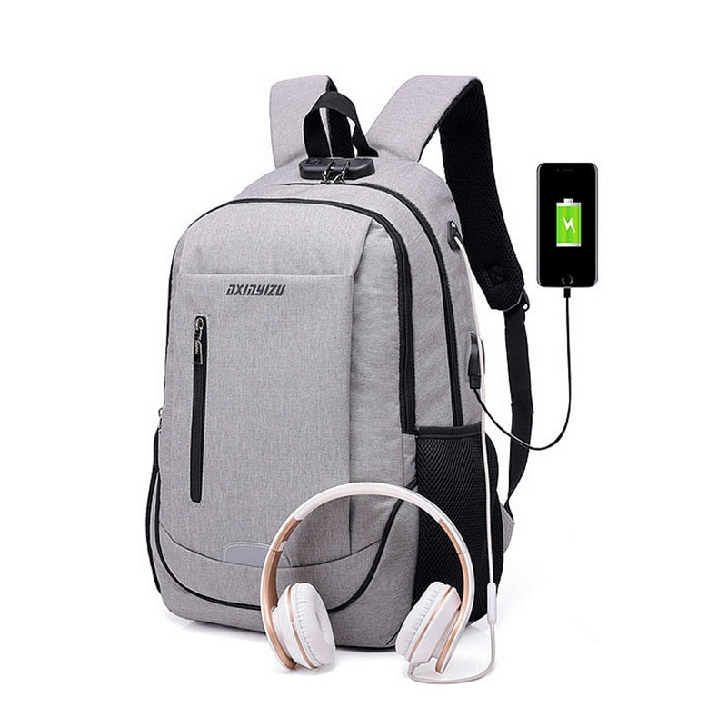 35L USB Travel Daypack for Tablet