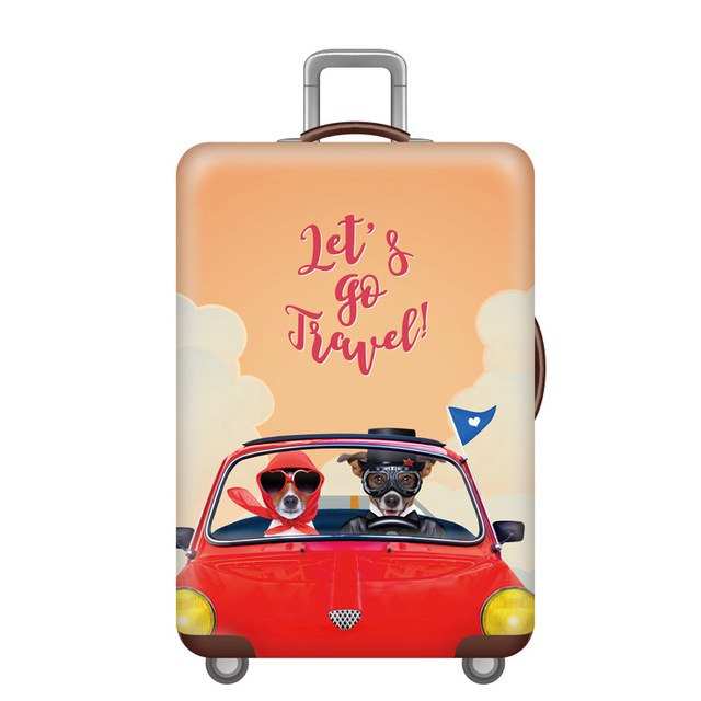 Suitcase Cover Car and Dogs 18-32 inch
