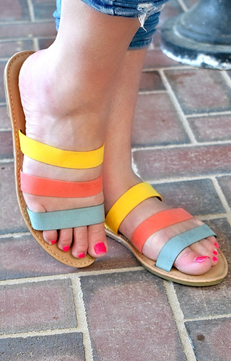 Load image into Gallery viewer, Blissful Breeze Sandals - Multi