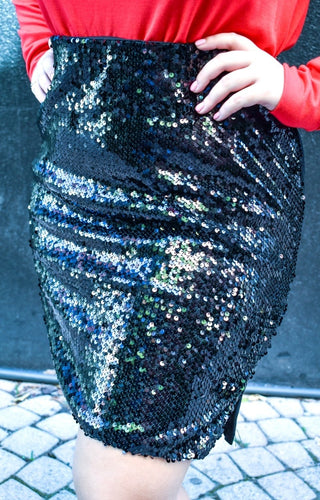 Good Distractions Sequin Skirt - Black