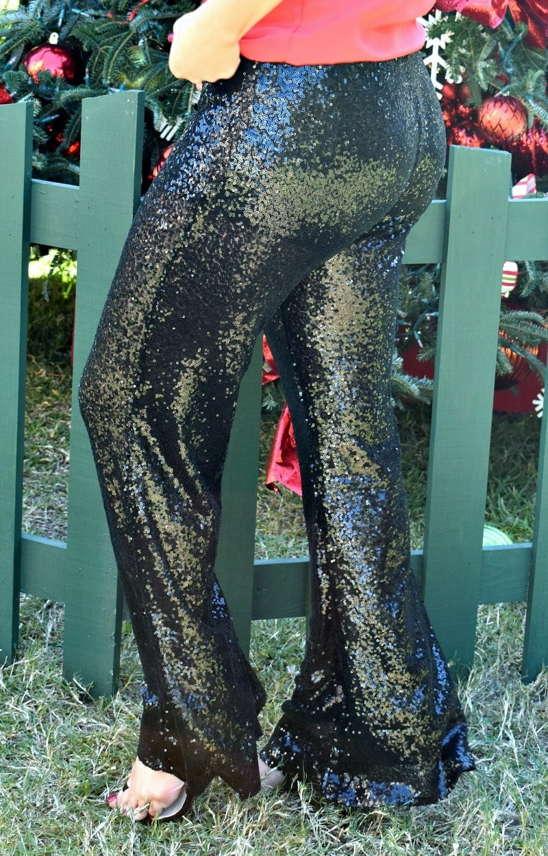 Load image into Gallery viewer, Live In The Spotlight Sequin Pants - Black
