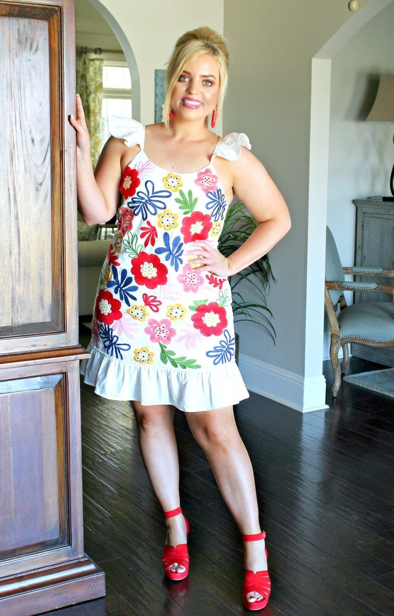 Load image into Gallery viewer, Simply Adore You Floral Dress - Ivory