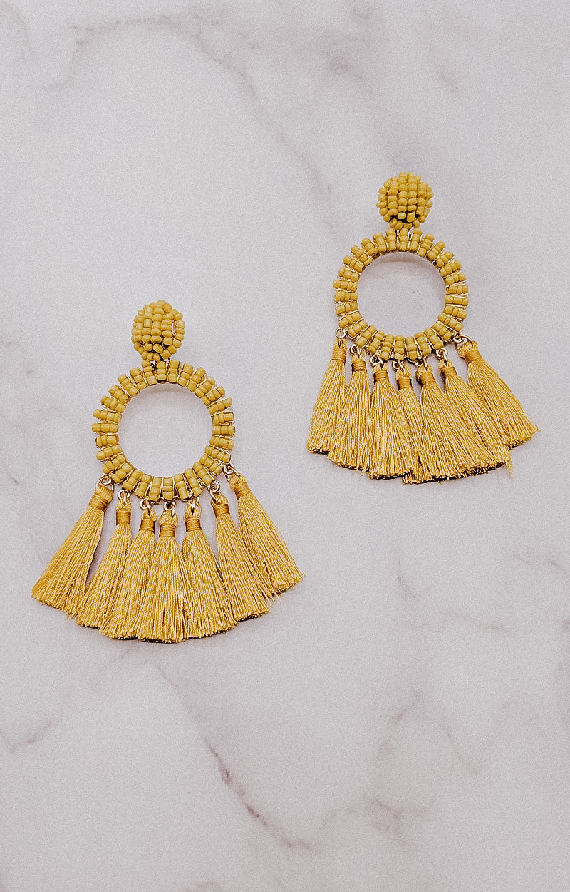 Only With You Earrings - Marigold