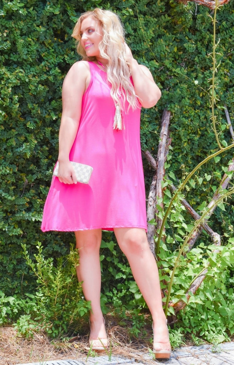 Three Day Weekend Dress - Fuchsia