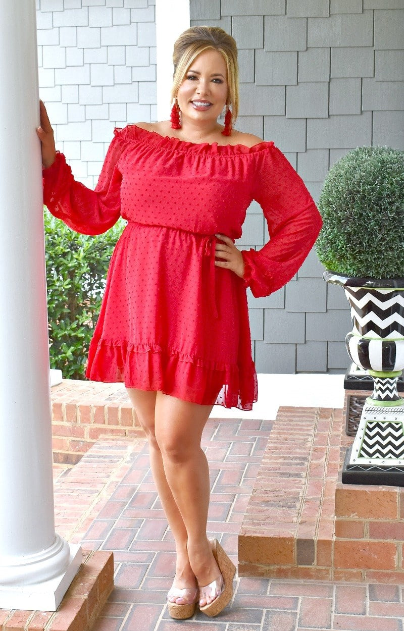 Totally Worth It Dress - Red