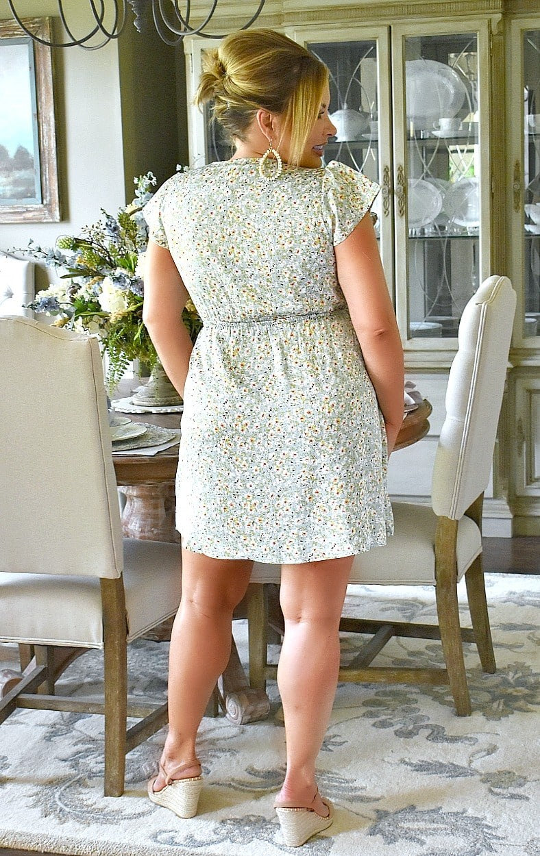 Load image into Gallery viewer, Ease Your Mind Floral Dress - Mint