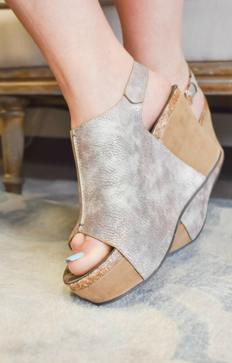 Be Who You Are Wedges - Rose Gold