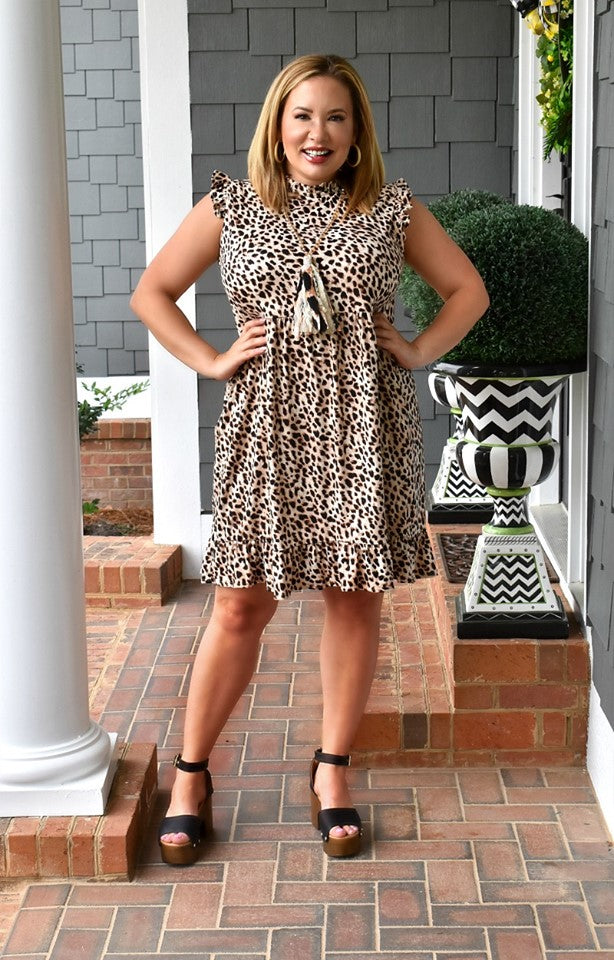 In Your Dreams Leopard Print Dress