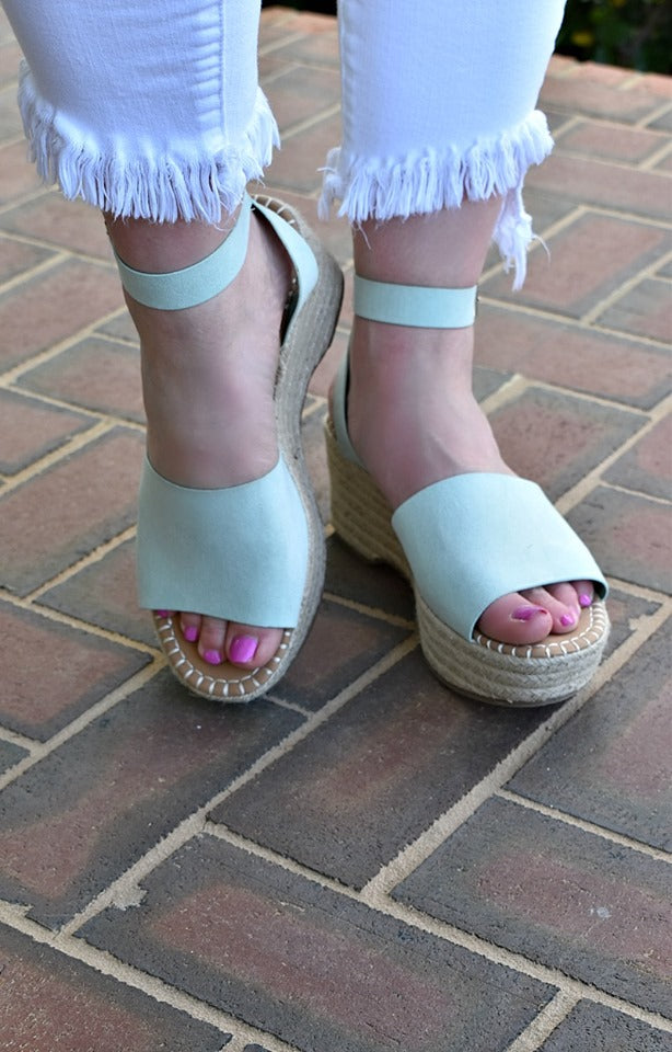 Can't Be Unseen Wedges - Seafoam