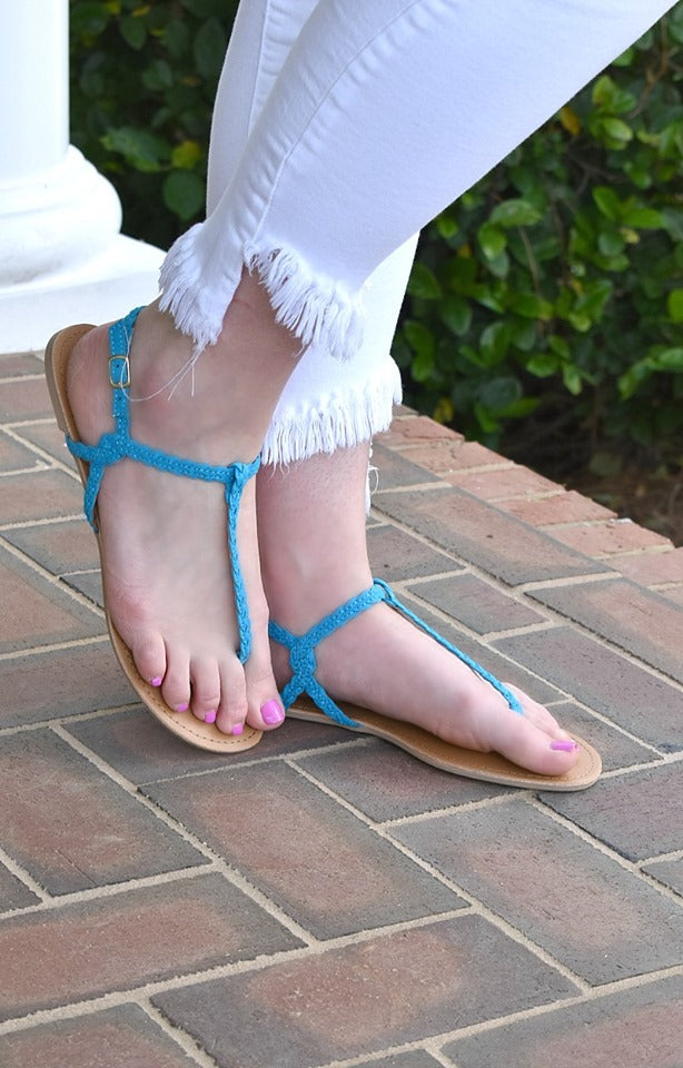 Initial Spark Sandals - Turquoise