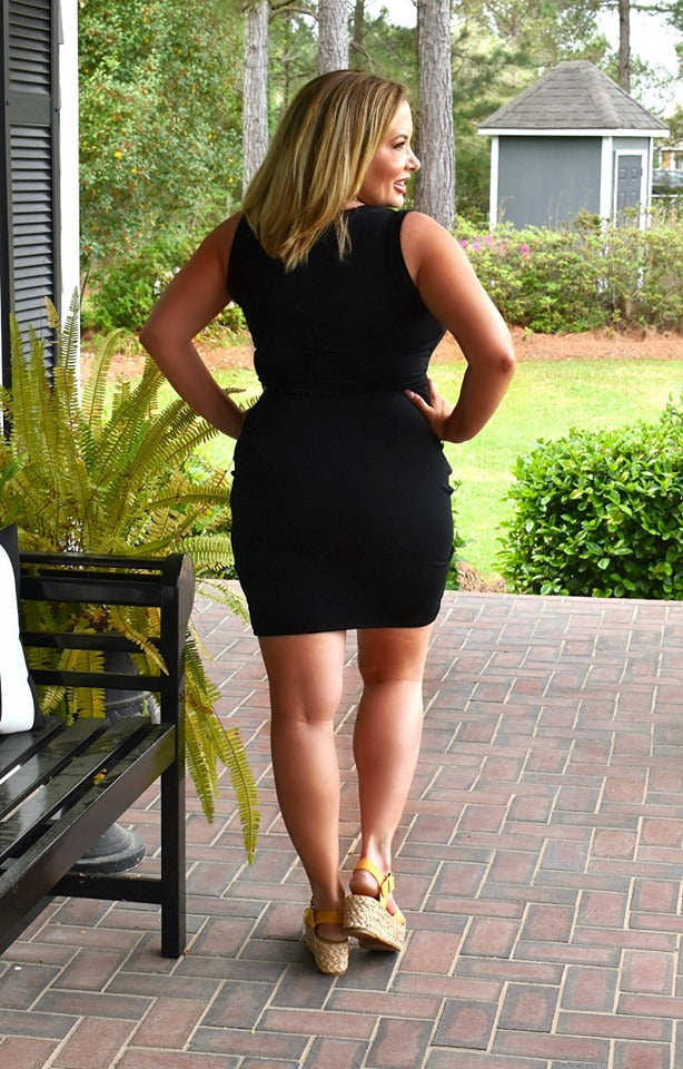 Load image into Gallery viewer, Clearly Spotted Dress - Black