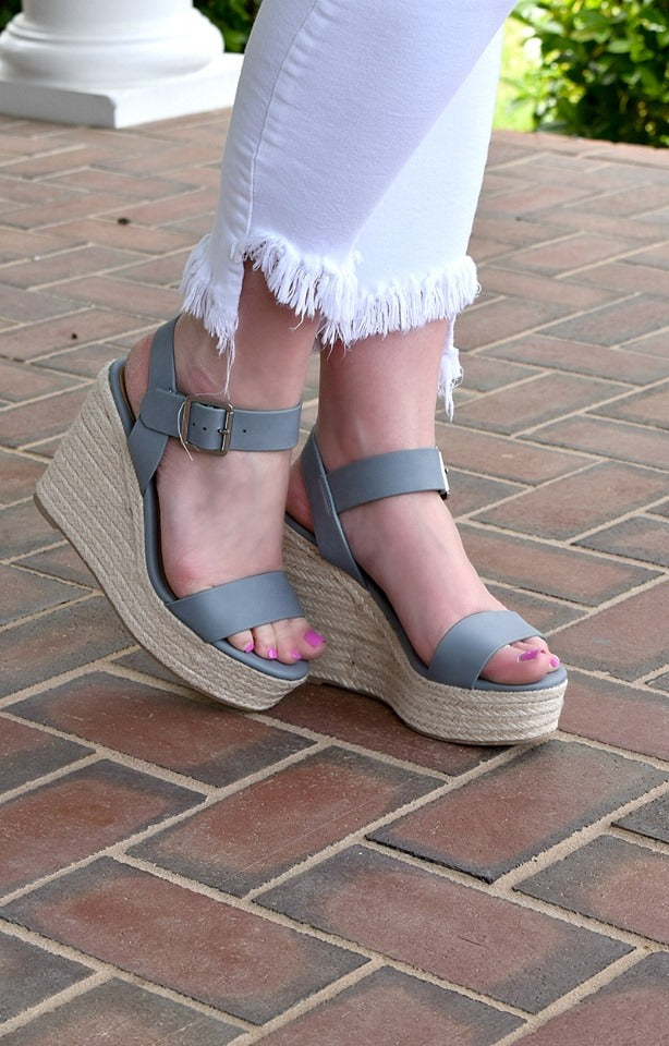 Have It My Way Wedges - Pewter