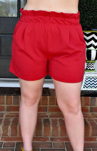 Keep In Touch Shorts - Red