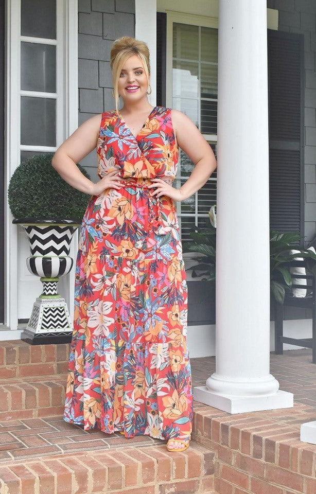Treat Yourself Floral Maxi Dress
