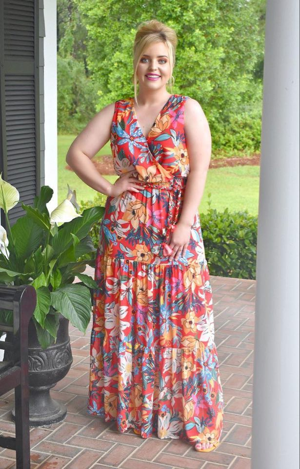 Load image into Gallery viewer, Treat Yourself Floral Maxi Dress