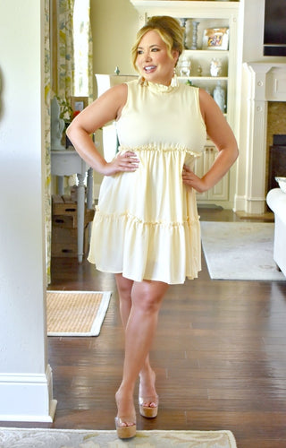 For The Fun Of It Dress - Cream