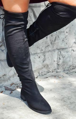 Go Getter Knee Boots - Black