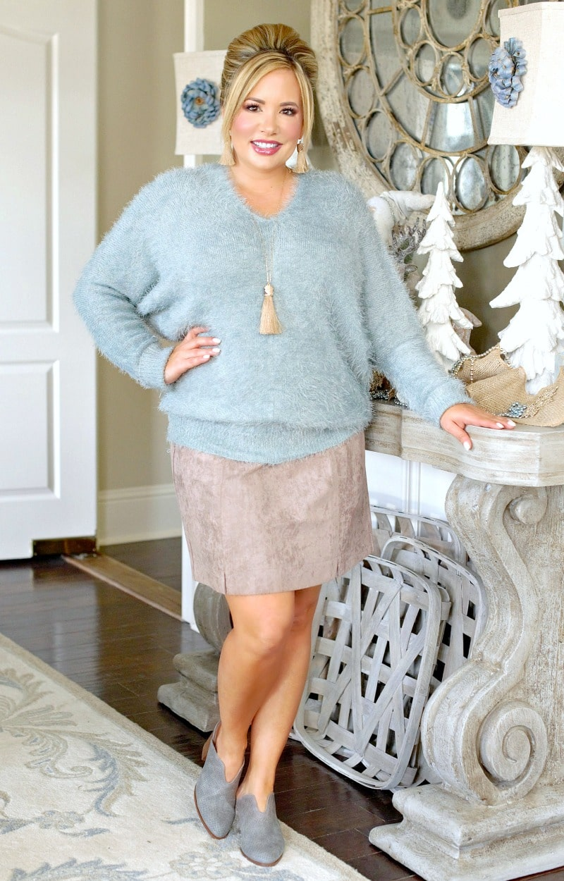 In Hot Pursuit Sweater - Seafoam