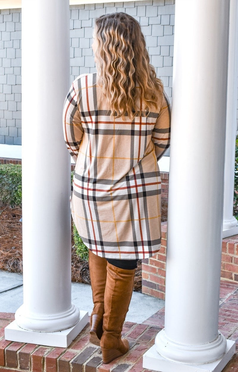The Little Things Plaid Top - Cream