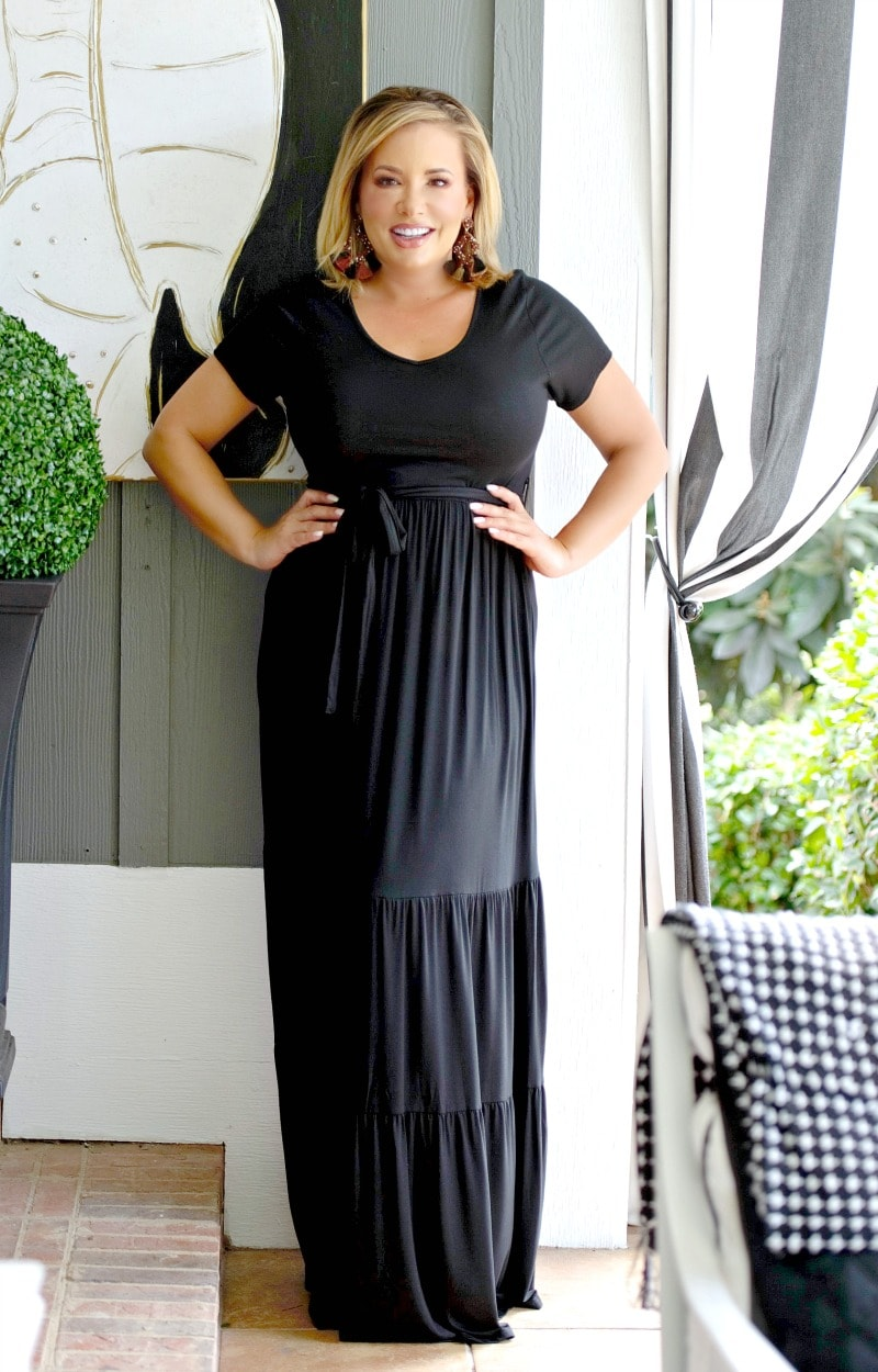 On My Way Maxi Dress - Black